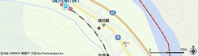 山形県東田川郡庄内町清川花崎208周辺の地図