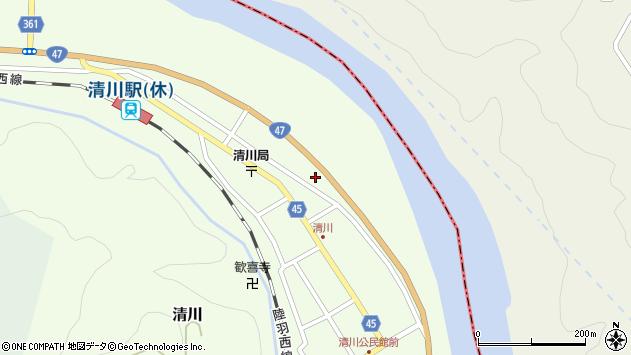 山形県東田川郡庄内町清川下川原319周辺の地図