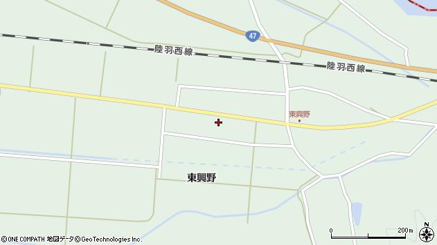 山形県東田川郡庄内町狩川東興野55周辺の地図