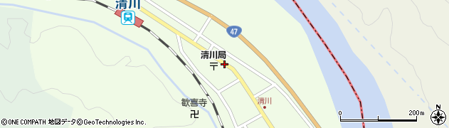 山形県東田川郡庄内町清川下川原18周辺の地図