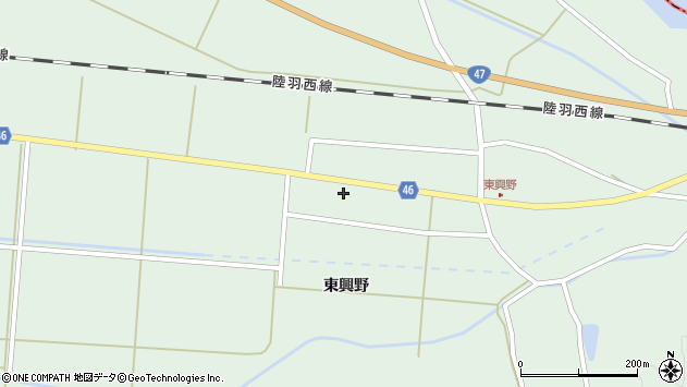 山形県東田川郡庄内町狩川東興野74周辺の地図