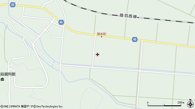 山形県東田川郡庄内町狩川下南割周辺の地図