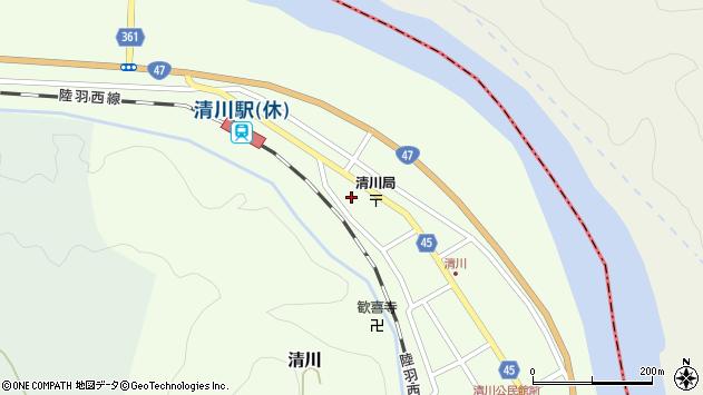 山形県東田川郡庄内町清川花崎211周辺の地図