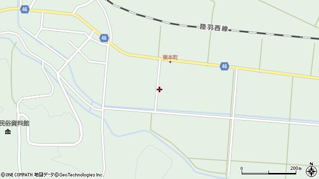 山形県東田川郡庄内町狩川下南割13周辺の地図