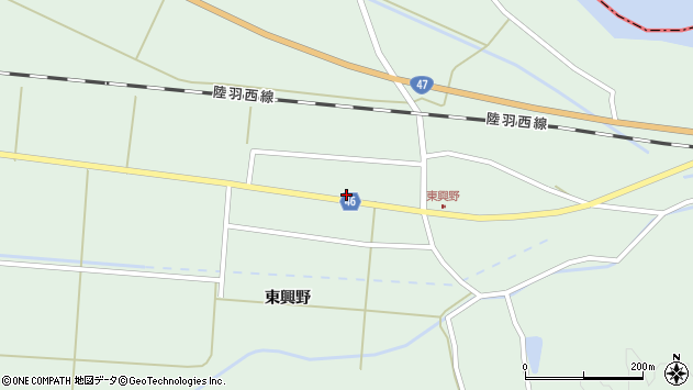 山形県東田川郡庄内町狩川東興野31周辺の地図