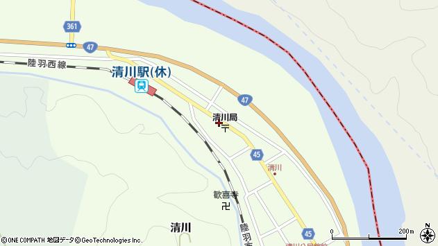 山形県東田川郡庄内町清川下川原11周辺の地図