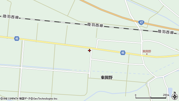 山形県東田川郡庄内町狩川中南割周辺の地図