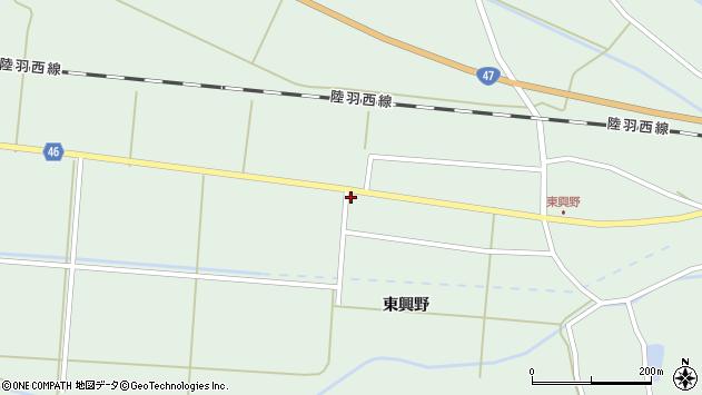山形県東田川郡庄内町狩川東興野81周辺の地図