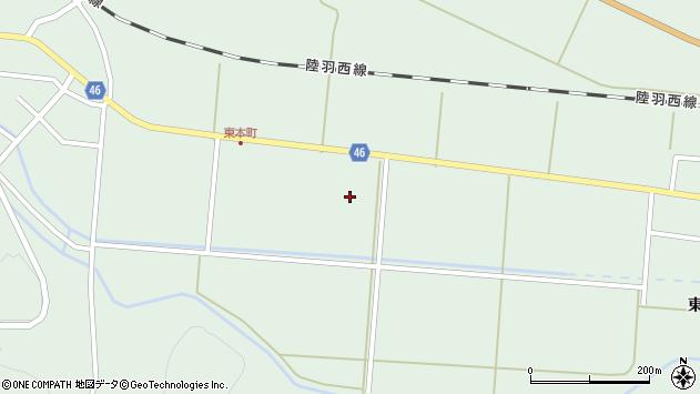山形県東田川郡庄内町狩川下南割10周辺の地図