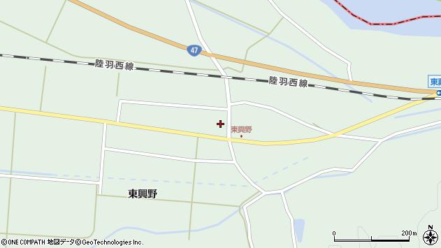 山形県東田川郡庄内町狩川東興野3周辺の地図