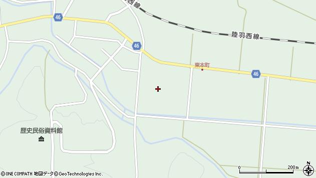 山形県東田川郡庄内町狩川山居22周辺の地図