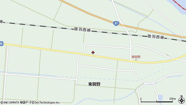 山形県東田川郡庄内町狩川東興野73周辺の地図