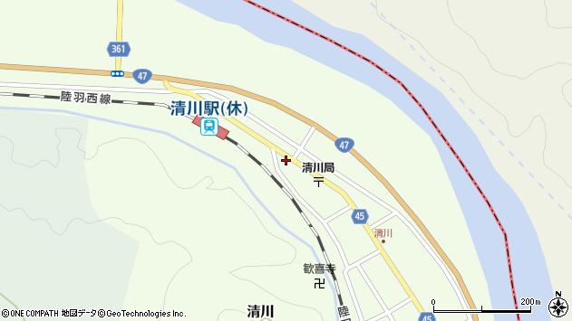 山形県東田川郡庄内町清川下川原7周辺の地図