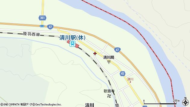 山形県東田川郡庄内町清川下川原6周辺の地図