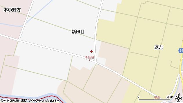 山形県東田川郡庄内町新田目北割7周辺の地図