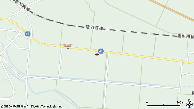 山形県東田川郡庄内町狩川下南割9周辺の地図