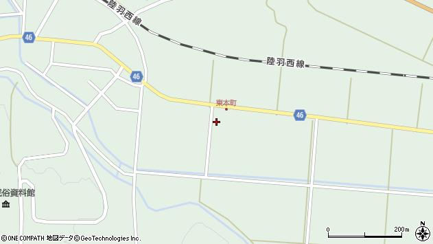 山形県東田川郡庄内町狩川下南割2周辺の地図