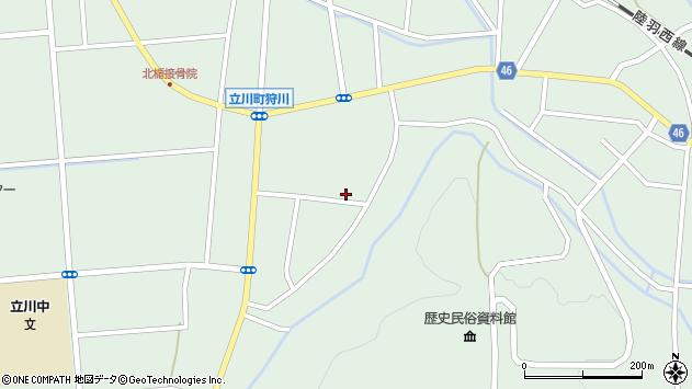 山形県東田川郡庄内町狩川楯下82周辺の地図