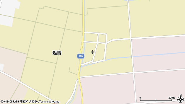 山形県東田川郡庄内町返吉角崎周辺の地図