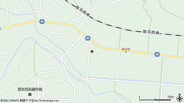 山形県東田川郡庄内町狩川山居34周辺の地図
