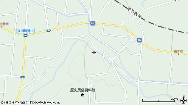 山形県東田川郡庄内町狩川楯山周辺の地図