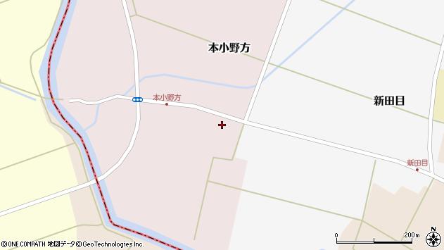 山形県東田川郡庄内町本小野方南割2周辺の地図