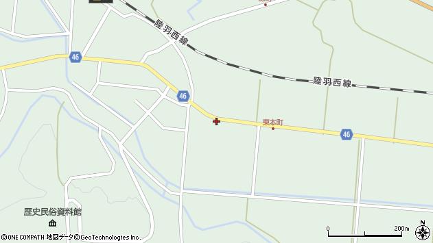 山形県東田川郡庄内町狩川山居27周辺の地図