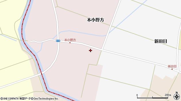 山形県東田川郡庄内町本小野方周辺の地図