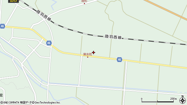 山形県東田川郡庄内町狩川堂ノ下3周辺の地図