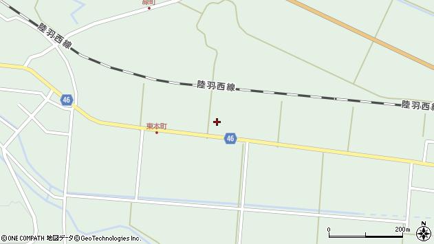 山形県東田川郡庄内町狩川内北割38周辺の地図
