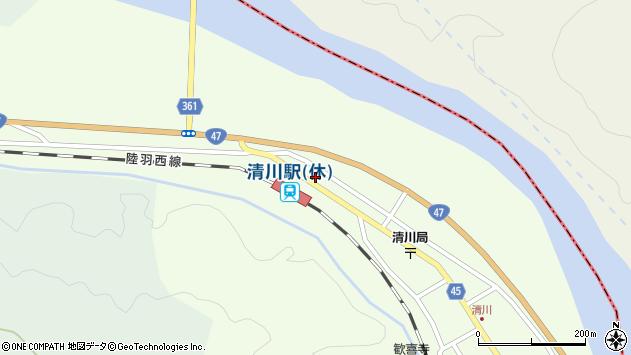 山形県東田川郡庄内町清川下川原56周辺の地図