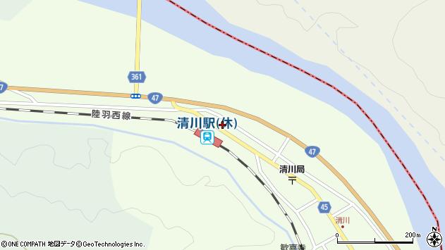 山形県東田川郡庄内町清川下川原57周辺の地図