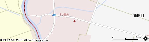 山形県東田川郡庄内町本小野方東割16周辺の地図