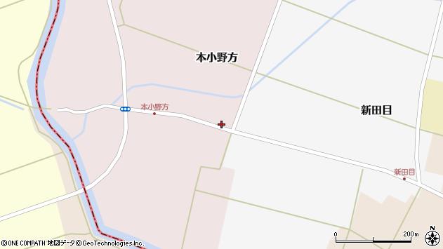 山形県東田川郡庄内町本小野方東割2周辺の地図