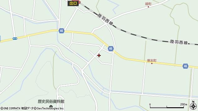 山形県東田川郡庄内町狩川山居57周辺の地図