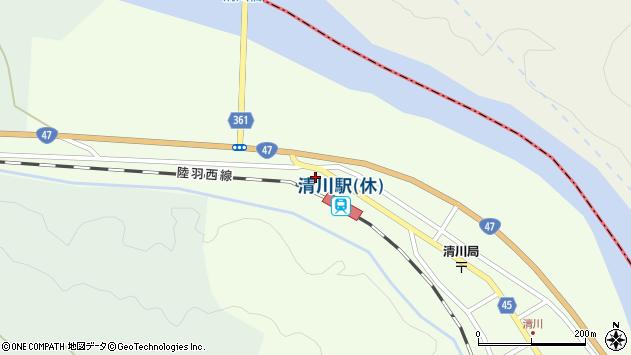 山形県東田川郡庄内町清川下川原75周辺の地図