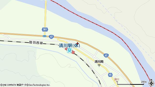 山形県東田川郡庄内町清川下川原51周辺の地図