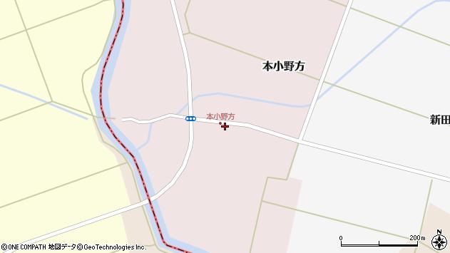 山形県東田川郡庄内町本小野方東割39周辺の地図