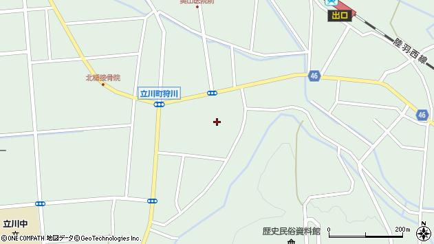 山形県東田川郡庄内町狩川楯下周辺の地図