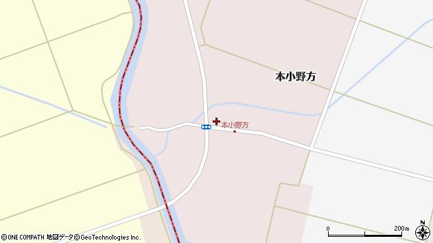 山形県東田川郡庄内町本小野方東割61周辺の地図