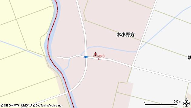 山形県東田川郡庄内町本小野方東割45周辺の地図