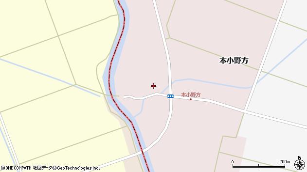 山形県東田川郡庄内町本小野方内割周辺の地図