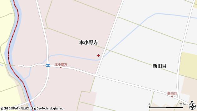 山形県東田川郡庄内町本小野方前割40周辺の地図