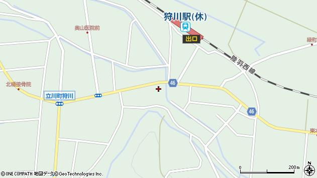 山形県東田川郡庄内町狩川楯下8周辺の地図
