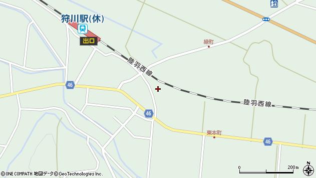 山形県東田川郡庄内町狩川堂ノ下15周辺の地図