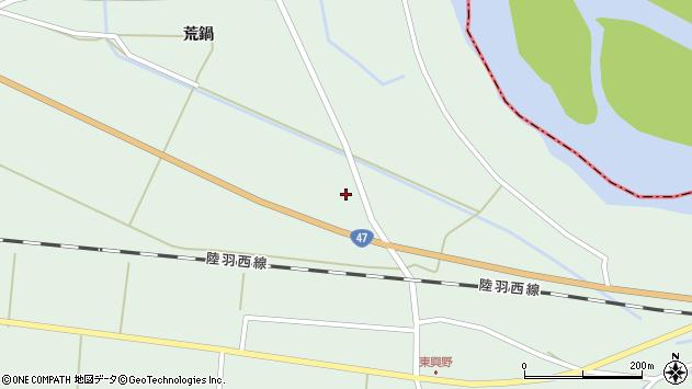 山形県東田川郡庄内町狩川外北割周辺の地図