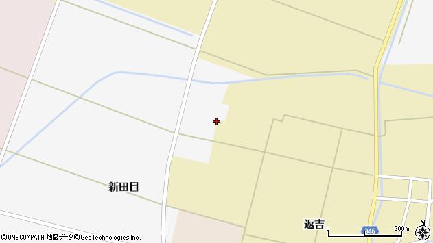 山形県東田川郡庄内町新田目裏割2周辺の地図