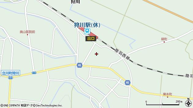 山形県東田川郡庄内町狩川今岡周辺の地図