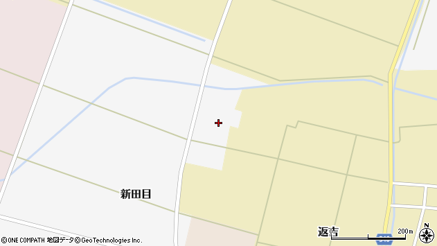 山形県東田川郡庄内町新田目裏割周辺の地図