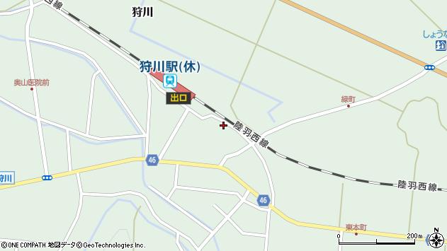 山形県東田川郡庄内町狩川今岡75周辺の地図